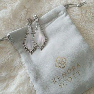 Kendra Scott Martha Statement Earrings in Silver